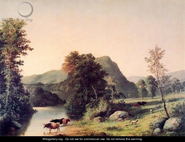 Landscape with Cattle - George Henry Durrie