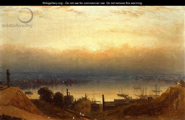 The Basin of the Patapsco from Federal Hill, Baltimore - Sanford Robinson Gifford