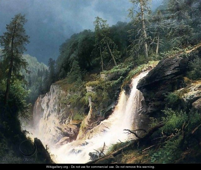 Western Waterfall - Herman Herzog