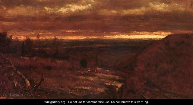 Landscape at Sunset - Thomas Worthington Whittredge