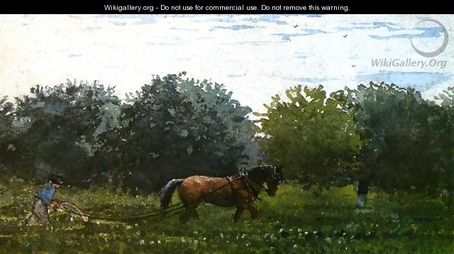 Horse and Plowman, Houghton Farm - Winslow Homer