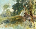 Landscape with Seated Figure - Julian Alden Weir