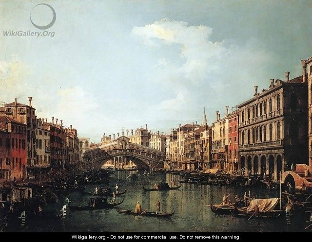 Rialto Bridge from the South - (Giovanni Antonio Canal) Canaletto