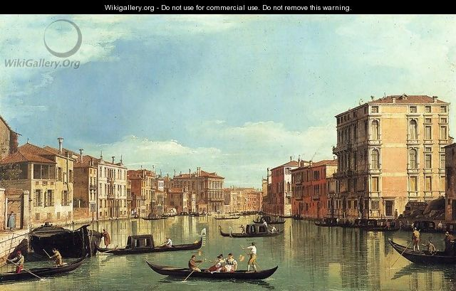 Grand Canal Between the Palazzo Bembo and the Palazzo Vendramin - (Giovanni Antonio Canal) Canaletto