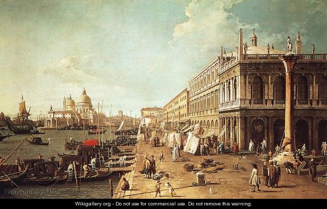 Molo with the Library - (Giovanni Antonio Canal) Canaletto