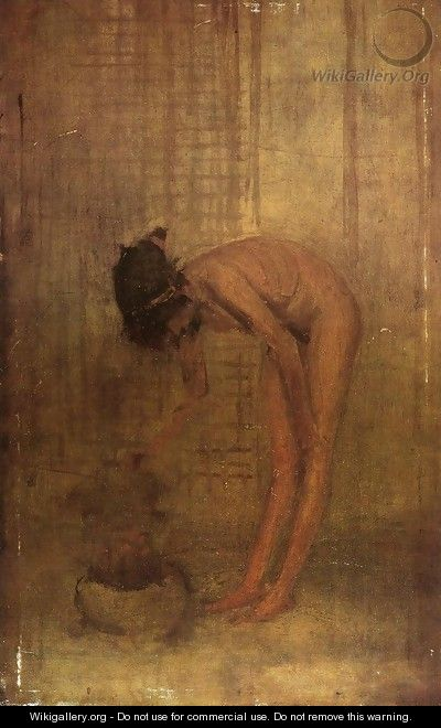 Nude Girl with a Bowl - James Abbott McNeill Whistler