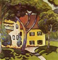 Staudacher's House at Tegernsee - August Macke