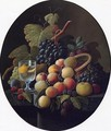 Still Life with Fruit and Wine Glass I - Severin Roesen