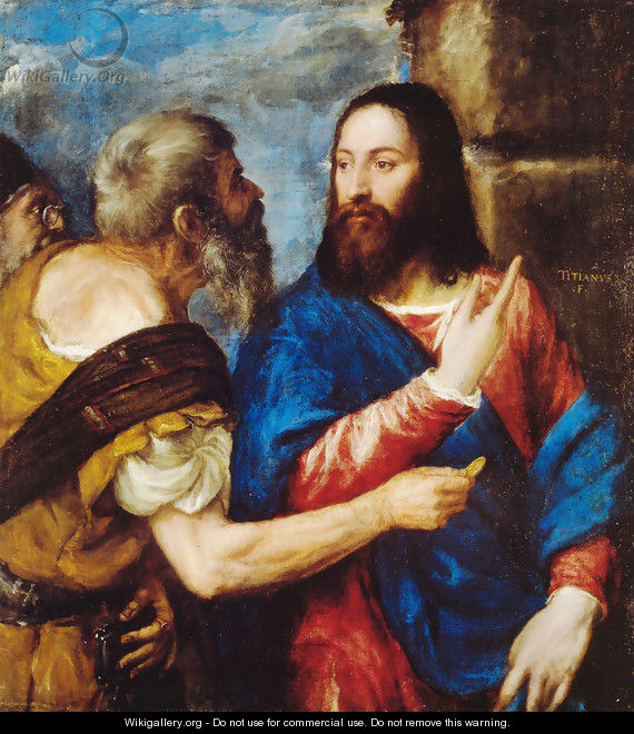 The Tribute Money - Tiziano Vecellio (Titian)