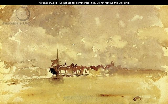 Gold and Grey: the Sunny Shower - Dordrecht - James Abbott McNeill Whistler
