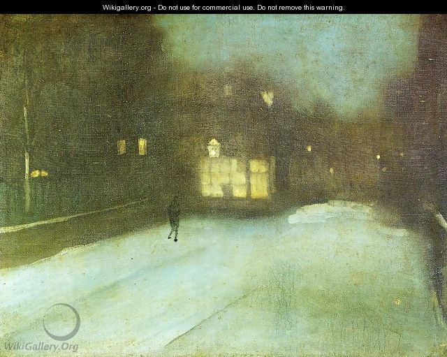 Nocturne: Grey and Gold - Chelsea Snow - James Abbott McNeill Whistler