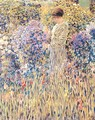 Lady in a Garden - Frederick Carl Frieseke