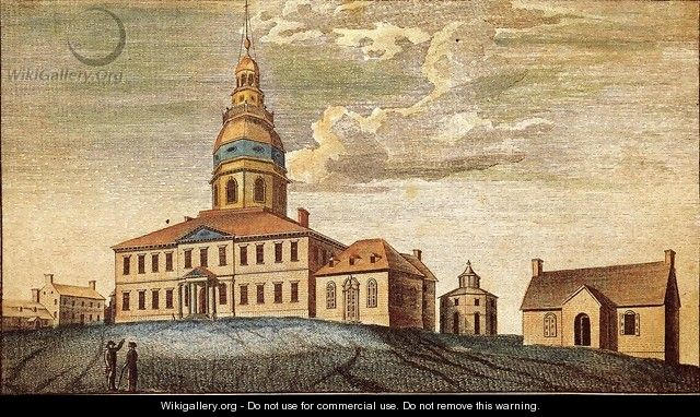 A Front View of Statehouse at Annapolis - Charles Willson Peale