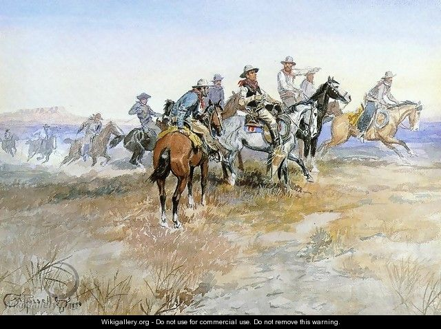 Start of Roundup - Charles Marion Russell