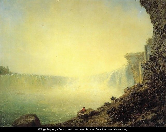 The Canadian Side of Niagara Falls, Platform Rock - Rembrandt Peale