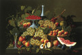 Still Life with Fruit and Champagne II - Severin Roesen