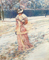 Lady in Pink - Frederick Childe Hassam