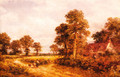 The Lane at Whittington, Worcestershire - Benjamin Williams Leader
