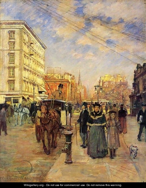 Fifth Avenue at Madison Square - Theodore Robinson