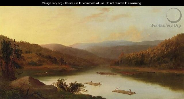 Flatboat Men - Robert Scott Duncanson