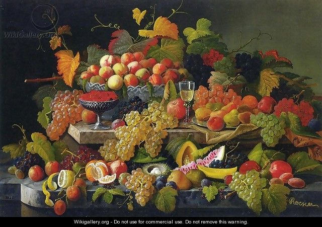 Still Life with Fruit XIV - Severin Roesen