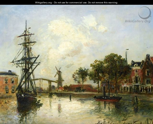 Entry to the Port, Rotterdam - Johan Barthold Jongkind