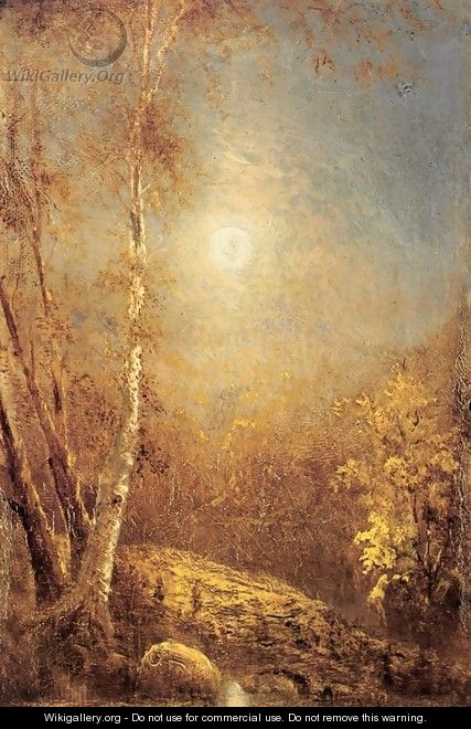 Morning Sun in Autumn - Louis Remy Mignot