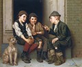 Plotting Mischief - John George Brown