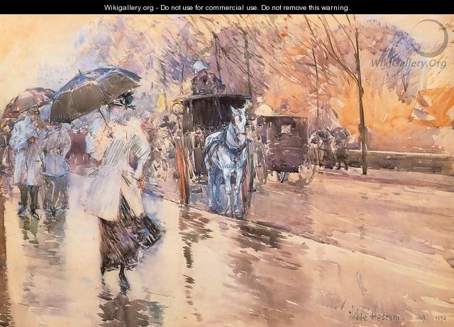 Rainy Day on Fifth Avenue - Frederick Childe Hassam