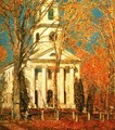 Church at Old Lyme - Frederick Childe Hassam