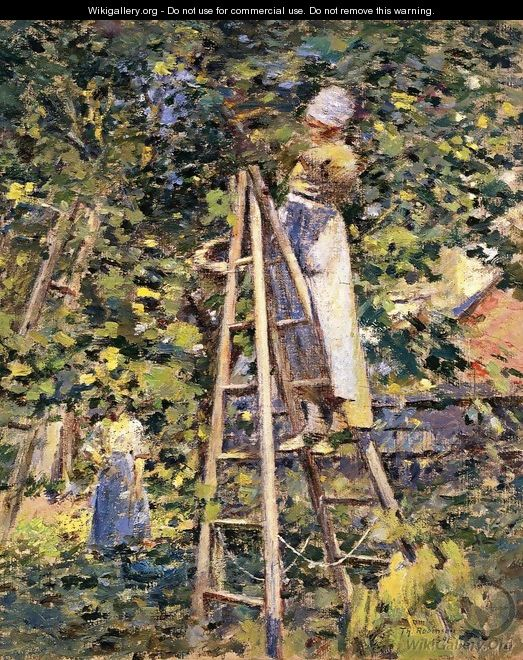 Gathering Plums - Theodore Robinson