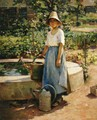 At the Fountain - Theodore Robinson