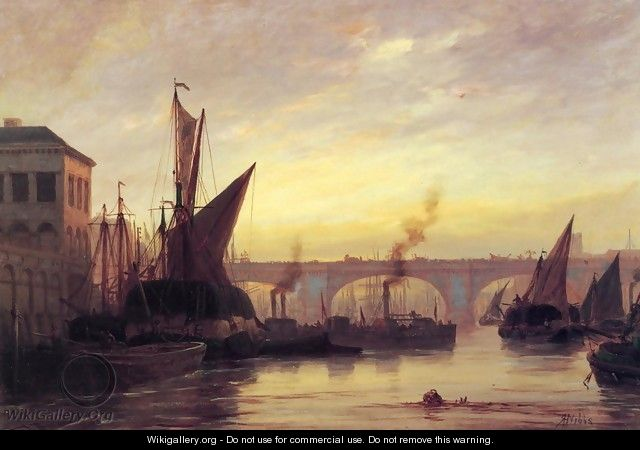 Shipping on the Thames - Richard Henry Nibbs