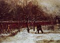 The Parsonage Garden at Nuenen in the Snow 2 - Vincent Van Gogh