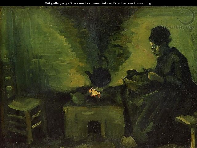 Peasant Woman by the Fireplace 2 - Vincent Van Gogh