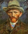 Self Portrait with a Grey Felt Hat - Vincent Van Gogh