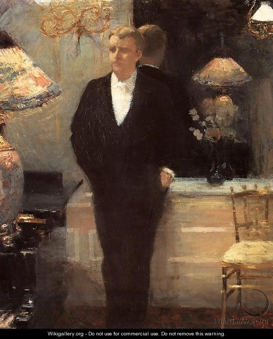 Portrait of Octave Maus - Theo van Rysselberghe