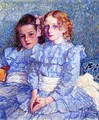 Portrait of Helene and Michette Guinotte - Theo van Rysselberghe