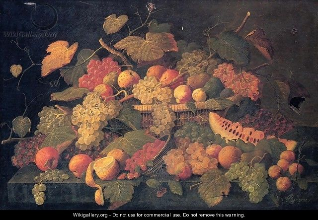 Still Life: An Abundance of Fruit - Severin Roesen
