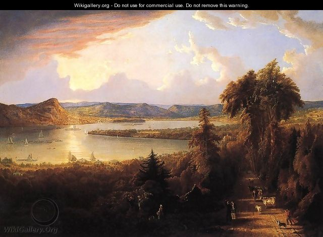 Sunset near Sing-Sing, New York - Robert Havell, Jr.