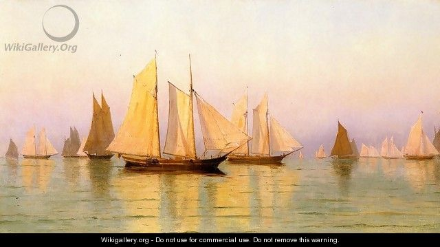 Sloops and Schooners at Evening Calm - William Bradford