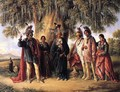 Six Kickapoo Indians, Chief and Family - August Theodor Schoefft