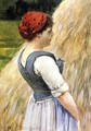 Peasant Against Hay - James Carroll Beckwith