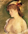 The Blond with Bare Breasts - Edouard Manet