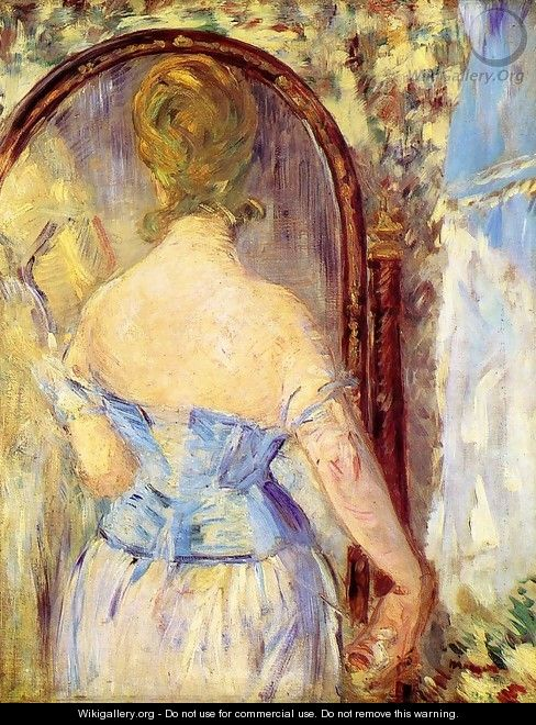 Before the Mirror - Edouard Manet