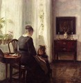 Mother and Child by a window - Carl Vilhelm Holsoe