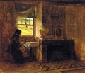 Interior of a Farm House in Maine - Eastman Johnson