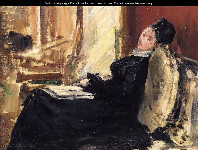 Young Woman with Book - Edouard Manet