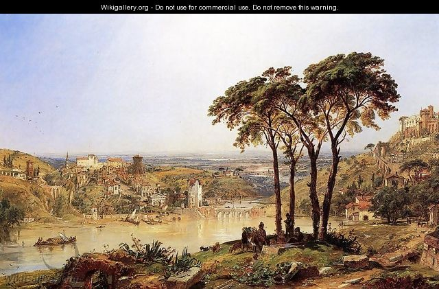 Summer, Noonday on the Arno - Jasper Francis Cropsey