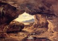 The Cave in a Cliff near Granville - Etienne-Pierre Theodore Rousseau